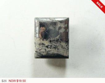 Cobaltite Silver Ore, 15x18x5 mm, small cab, designer cabochon, gemstone cabochons, flat back cabochons, natural stone cabochons (cs52271)