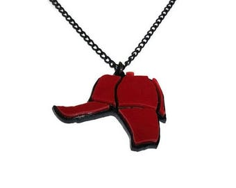 Catcher in the Rye Necklace, Holden Caulfield Red Hunting Hat, J.D Salinger
