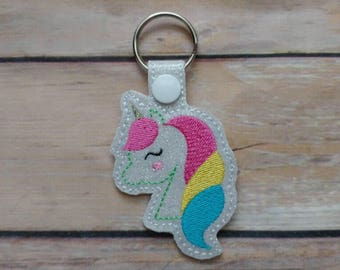 Unicorn Keychain - Party Favor - Key Chain - Fob - Girly Gift - Gift for Her - Unicorn Lover - Luggage Tag - Unicorn Fan - Geek Gift