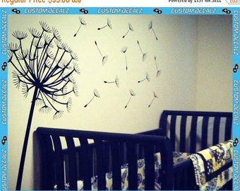 ON SALE NOW Dandelion Wall Decal - Comes with 14 scattered seeds