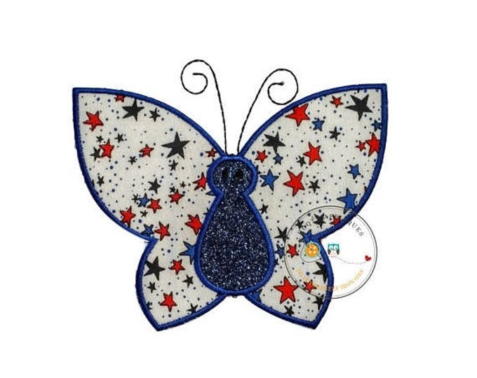 ON SALE NOW 4th of July butterfly iron on applique patch