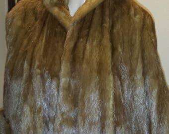 Vintage 60's  Canadian Mink Fur Stole Capelet Wrap ..Hudsons Bay cape. Gorgeous Bridal Wedding Winter Wedding Retro...