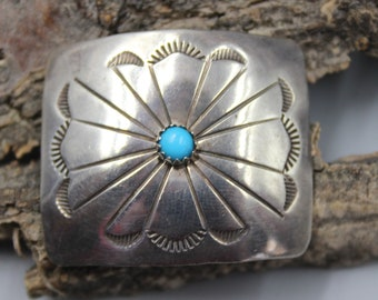 Carol Felley Sunrise Clip Collar Slide Sterling Silver Turquoise
