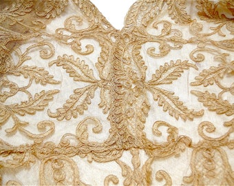 Antique French Alencon Mesh Lace Blouse for Restoration or Study - Gorgeous Needlework