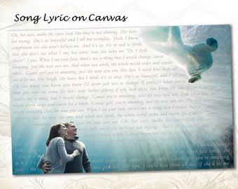 Song Lyric on Wall Art Canvas