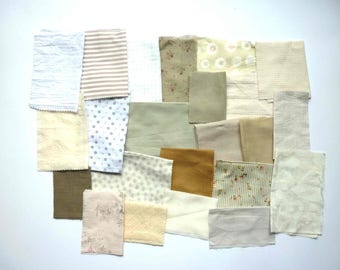 set of fabrics for patchwork 230 coupons