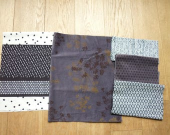 set of 154 patchwork fabrics coupons