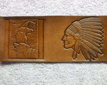 native american wallet / billfold  (136) eagle wallet ( I ship the same day as you order )