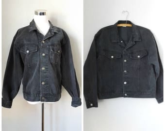 Black denim jacket mens vintage