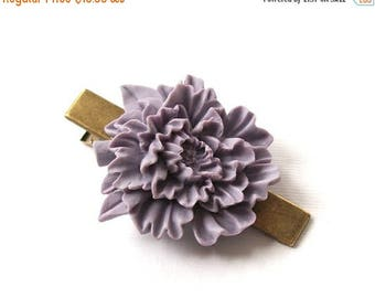 SUMMER SALE Vintage Style Beautiful Large Light Purple Hair Clip Antique Bronze Tone for Adults Formal Girls Wedding Bridesmaids