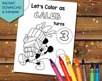Mickey Mouse Party Activity Book, Mickey Mouse Party Favors, Mickey Mouse Party Games, Mickey Mouse Coloring Pages, Clubhouse