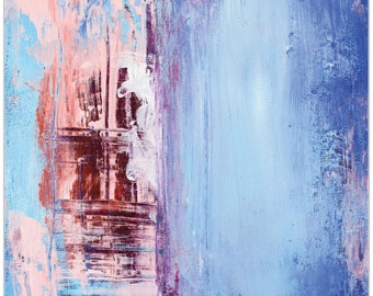 Abstract Wall Art 'Urban Life 2' by Celeste Reiter - Urban Decor Contemporary Color Layers Artwork on Metal or Plexiglass