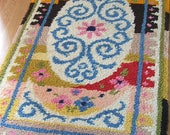 Lovely Vintage Handmade Colouful Rug