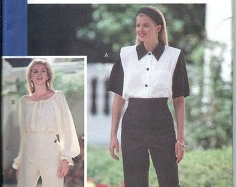 ON SALE Butterick 5453 Glamour Collection Fast & Easy Misses Blouse and Pants Pattern Size 6-8-10-12 UNCUT
