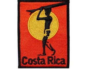 Costa Rica Surfboard Beach Bum Wave Rider Ocean Surf Iron On Applique Patch