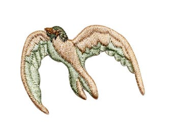 ID 0523 Ocean Gull Patch Beach Bird Flying Seagull Embroidered Iron On Applique