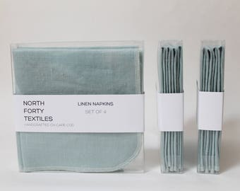 Square Linen Napkins 12x12 Set of Four - ANY COLOR!! made to order