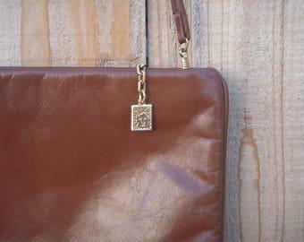 Vintage Anne Klein petite chestnut shoulder bag