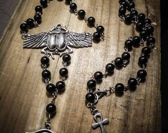 Rosary chaplet ankh Egyptian horus ♰ Scarabeo ♰