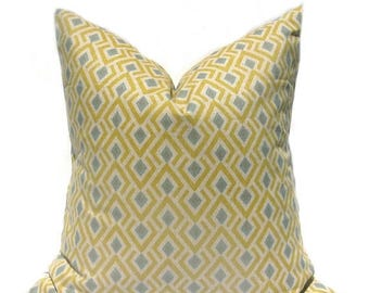 15% Off Sale Yellow Pillow Yellow Pillow Cover Decorative Pillow Mustard Yellow Pillow Throw Pillow Cover Blue Pillow Tan Pillow Pillows Cus