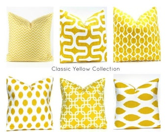 15% Off Sale Yellow pillow Cover - Yellow  Pillow -Pillow Cover - Throw Pillow - Decorative Pillow - Ikat Pillow - Home Decor - Housewares -