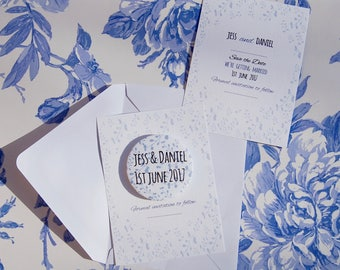Save the Date Magnet China Branches Design