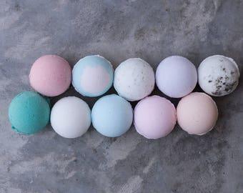 FOUR Bath Bombs || bath fizzy / handmade / relaxing / favors / moisturizing / epsom salt / bath time / bath color / Charleston / bath salt