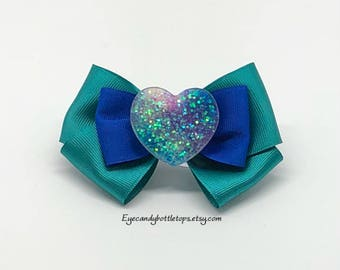Galaxy Heart Hair Bow
