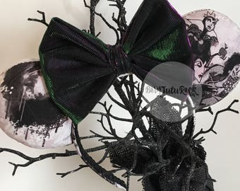 Villains Mouse Ears // Evil Queen Mouse Ears // by Born Tutu Rock