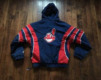 Cleveland Indians Starter Jacket vintage winter coat MLB baseball medium