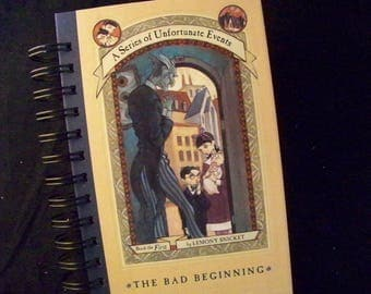 Lemony Snicket Unfortunate Events blank book journal diary planner altered book Bad Beginning