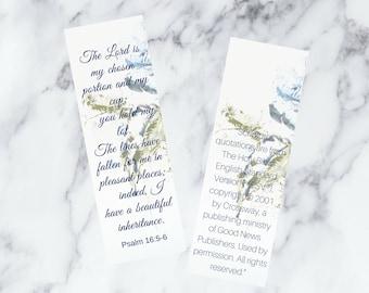 Bookmark, Bible Bookmark, Scripture Bookmark, Watercolor Bookmark, Bible Verse Bookmark