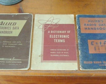 Vintage Radio Booklets Lot frm 1950's, Electronic Terms, Electronics Data Handbook, Radio Data Handbook