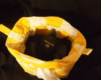 Camera Cozy \ DSLR Camera Bag \ Drawstring Camera bag \ Camera Pouch \ Canon Nikon Sony \ SLR bag \ Backpack Camera Bag \ 6x5x9