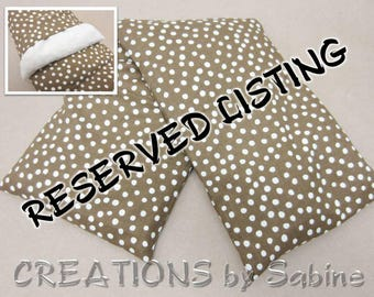 RESERVED LISTING Corn Heating Bag, washable Cover Corn Pillow Microwave Pack Earthy Brown Polka Dots Nature Natural Simple Minimalist (472)