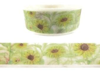 Yellow Sunflower Washi Tape - F12