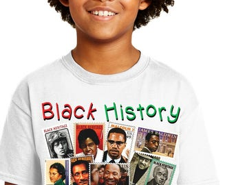 Black History T-shirt. Celebrating Our Legacy. Youth Style Sublimation Tee.