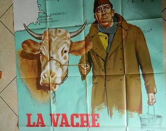 The Cow and the Prisoner Poster Cinema  45.66 inch X 62.20 inch