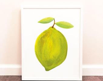 8x10 Printable Lime Painting