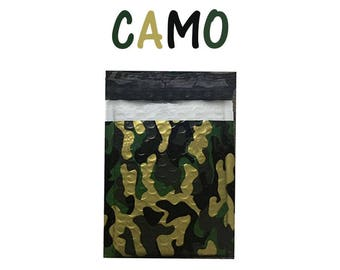 "30 Pack 6x10""  Camouflage Design Poly Bubble Mailers Self-Seal Business Envelopes Standard Mailer Bags Size #0 Protective Shipping Mailers"