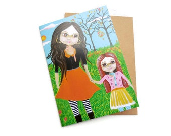 Mothers Day Card, Mother and Child Card, Card for Mum, Auntie and Niece, Best Aunt, Daughter Card, Niece Gift, I Love My Auntie,