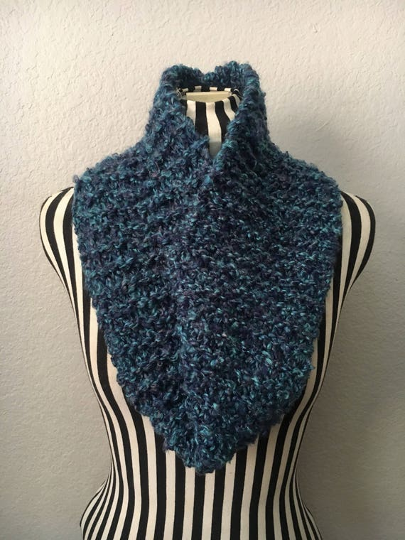 Shades of Blue | Soft | Knitted Infinity Scarf — Ready To Ship