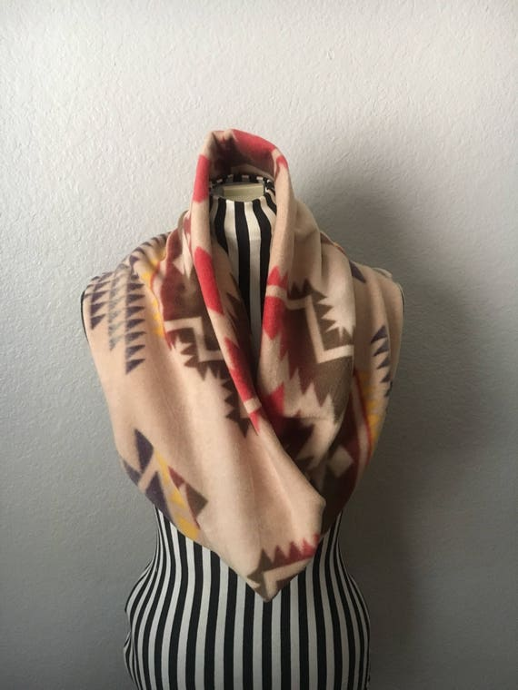 Tribal-Inspired | Soft | Fleece Infinity Scarf — Ready To Ship