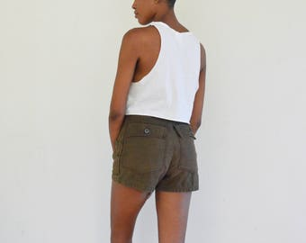 SALE 30% OFF 70s Brown Fatigue Shorts