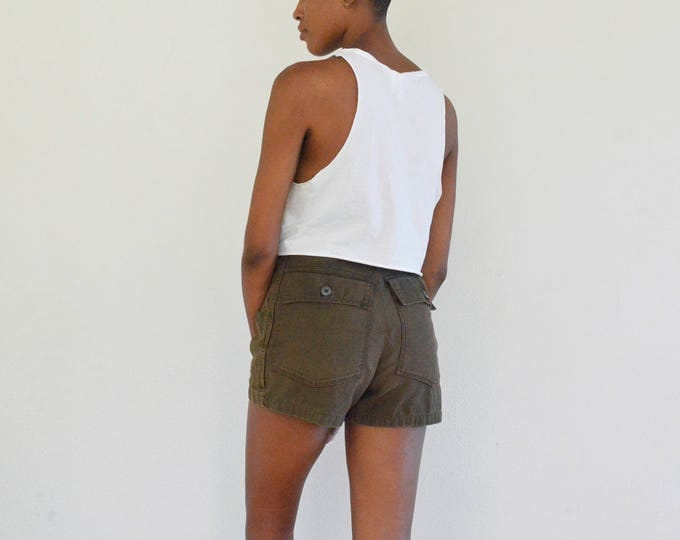 70s Brown Fatigue Shorts