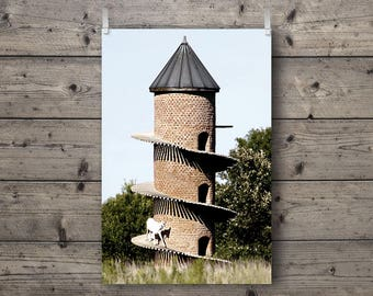Goat Tower of Baa No. 1 / Findlay, Illinois / Rural Landscape Photography Print / Farm Animal Wall Art / Country Home Decor / Architecture
