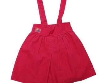 Vintage 90s Pink Corduroy Skirt | 5-6 Years