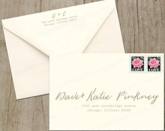 Custom Wedding Digital Calligraphy Envelope Addressing Printing - Brushing