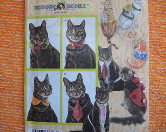 2000s sewing pattern Simplicity cat accessories costumes in two sizes UNCUT