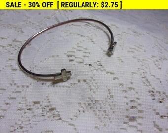 vintage enamel crosses cuff bracelet, vintage bracelet